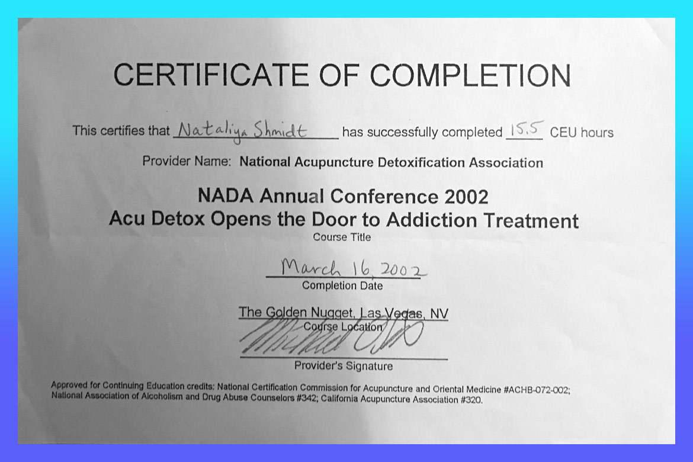 Dr natalia shmidt certification acu detox certificate 1betcityfo Images