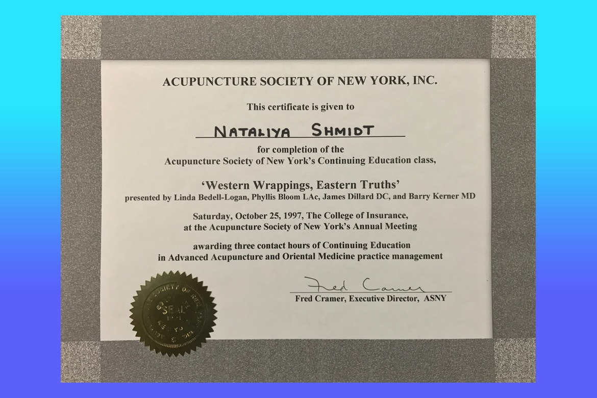 Dr natalia shmidt certification acupuncture society of new york 1betcityfo Images